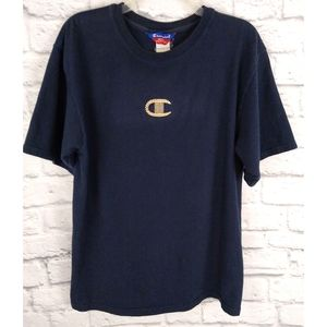Vintage Champion Chain C Embroidered Logo T Shirt